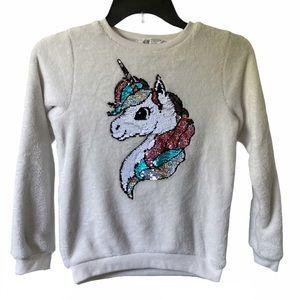 5/$15 H&M girls unicorn pullover size 8-10